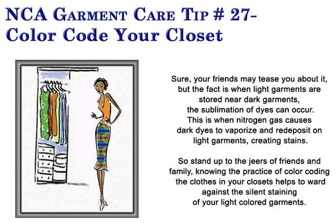 Color Code Your Closet U2013 Tips From Rhode Island Diamond Dry Cleaners